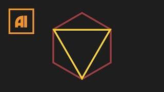 Как сделать многоугольник / треугольник в иллюстраторе - Polygon Tool | Урок Adobe Illustrator
