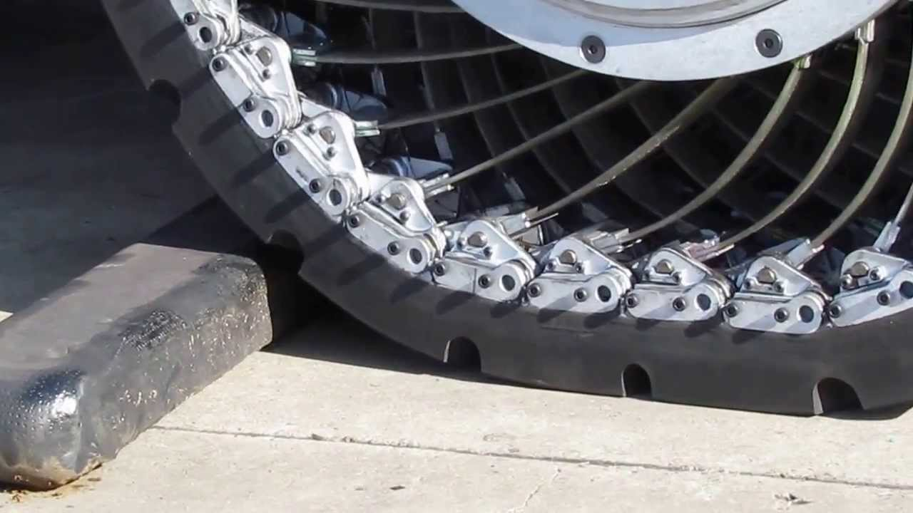 nonsolid wheel over obstacle - Pneumatic Tires