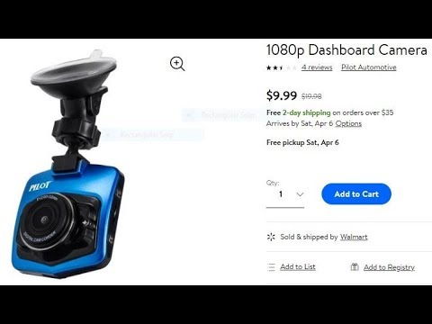 Pilot Dash Cam Cheapest Dashcam On The Market How Bad Is It Review $10 On Walmart Website Unboxing