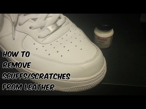 How To Remove Scuffs/Scratches From Leather Shoes/Sneakers Tutorial (@hey_ozzy)