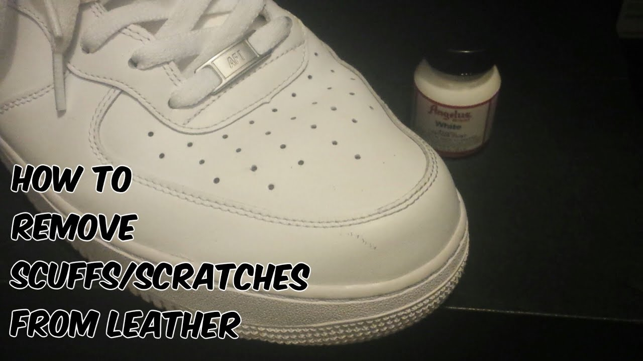 how to remove scuffs scratches from leather shoes sneakers