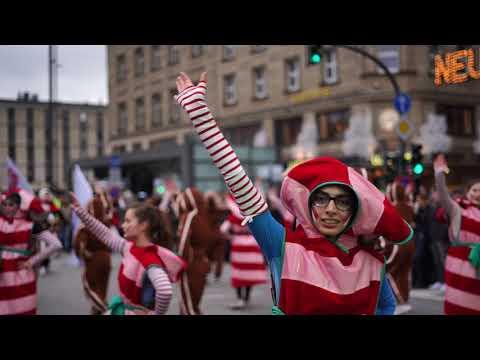 Hamburg City-Christmas Parade 2018 4K a7III