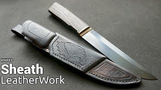 Leatherwork - Sheath for Faceted Knife