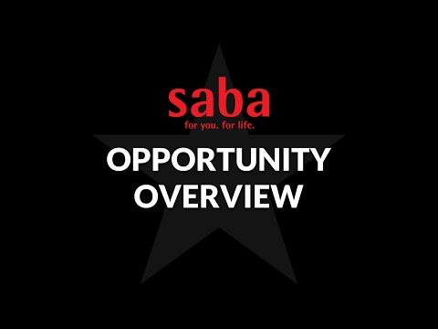 Saba Opportunity Overview - NEW Saba Bonuses!