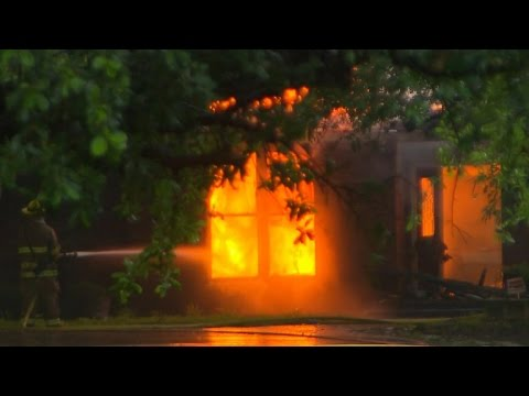 Firefighters Run Out Of Water While Battling Blaze At Texas Home