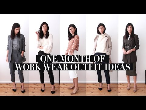 ONE MONTH OF WORKWEAR OUTFITS: Transitional Season Professional Office Style Outfits   Mademoiselle