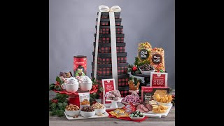 Gourmet Gift Baskets Buffalo Plaid Gourmet Gift Tower Unboxing & Review
