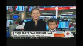 CBC News: 5 Years Old Ryan Wang Performs in Carnegie Hall