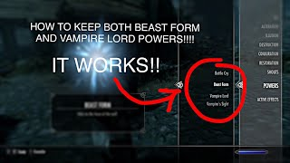 Skyrim Special Edition: Vampire lord and Werewolf hybrid tutorial step by step