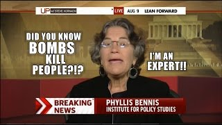 Hippy at MSNBC says Bombs recruit terrorists and kill people which is not humanitarian