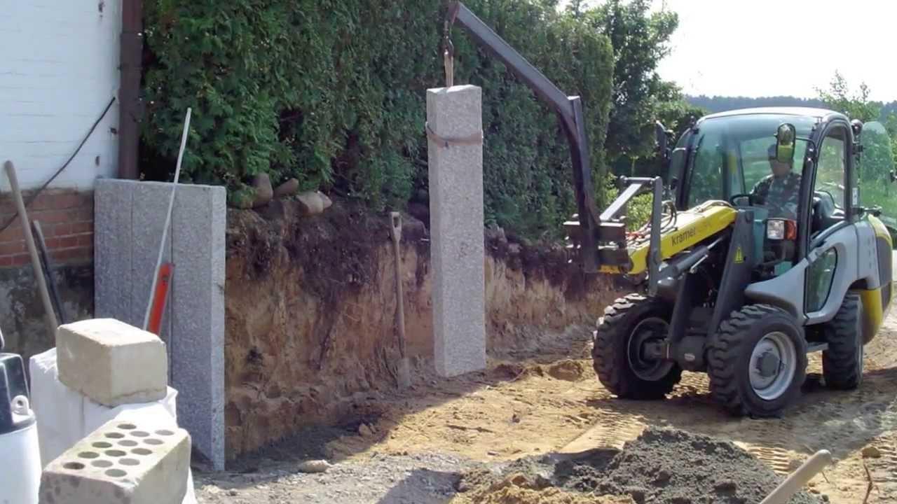 granit palisaden selber setzen palisaden aus granit. Black Bedroom Furniture Sets. Home Design Ideas