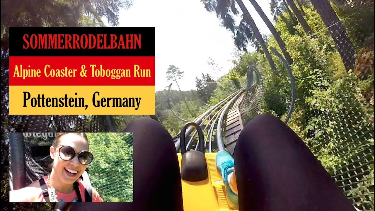 Sommerrodelbahn Ride (Alpine Coaster, Toboggan Run) | Pottenstein, Germany
