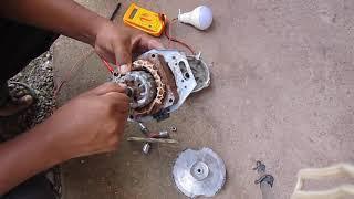 convertir motor de lavadora en generador / dinamo eolico mini hidroelectrica
