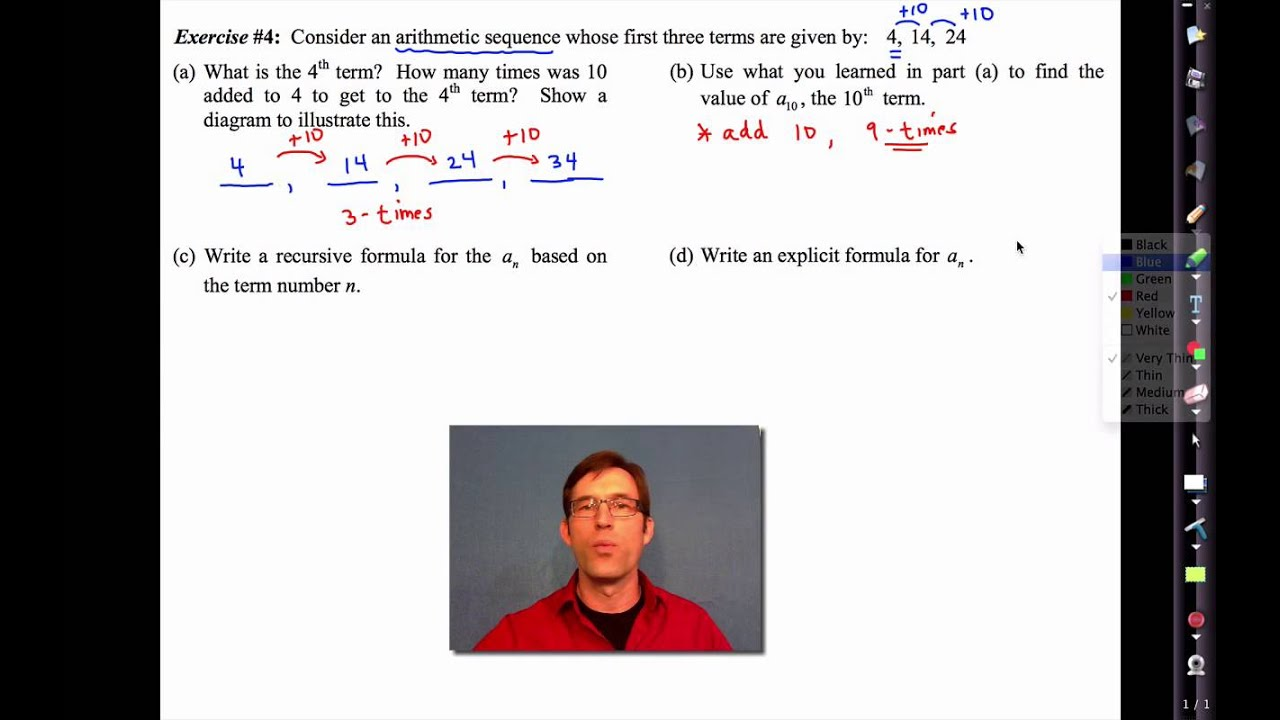 Common Core Algebra IUnit 4Lesson 13Arithmetic Sequences by – Arithmetic Sequence Worksheet Algebra 1