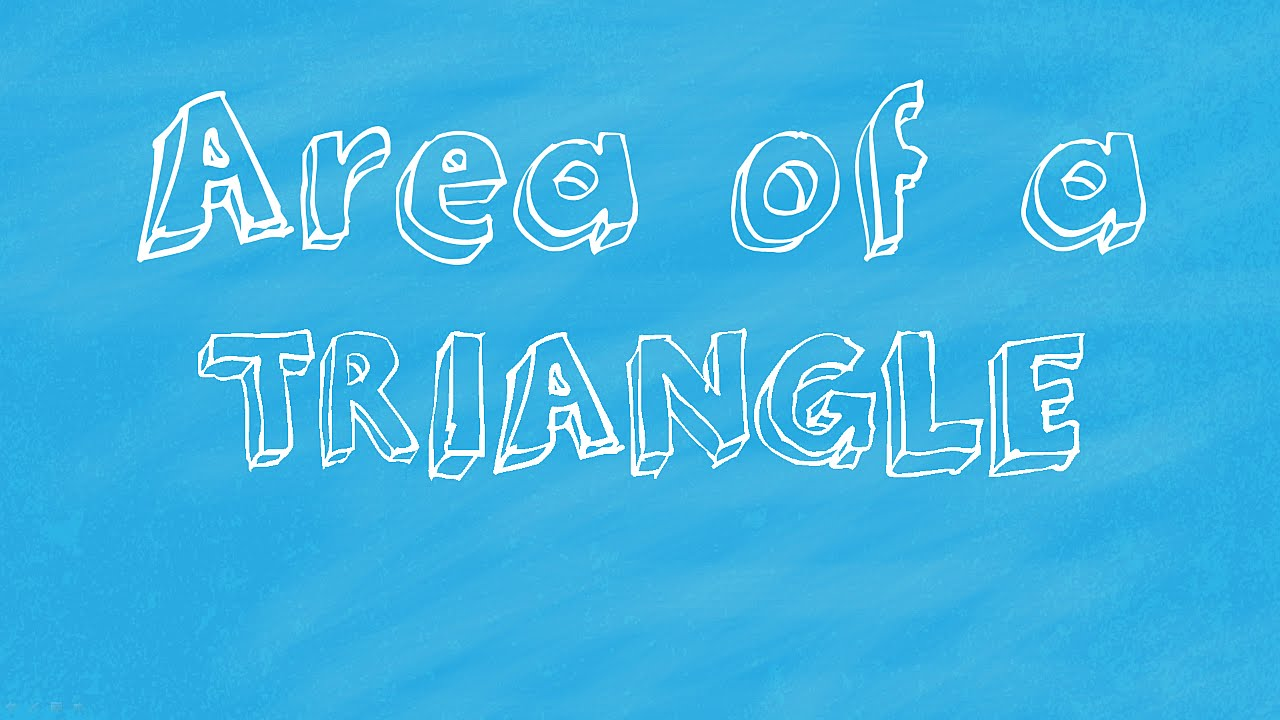 Simple Math Tutorial: Calculate the area of a Triangle - YouTube