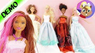 Barbie Bagong Damit | FASHION SHOW ~ 5 ball gowns + 12 pares ng sapatos | Mga Barbie Princesses
