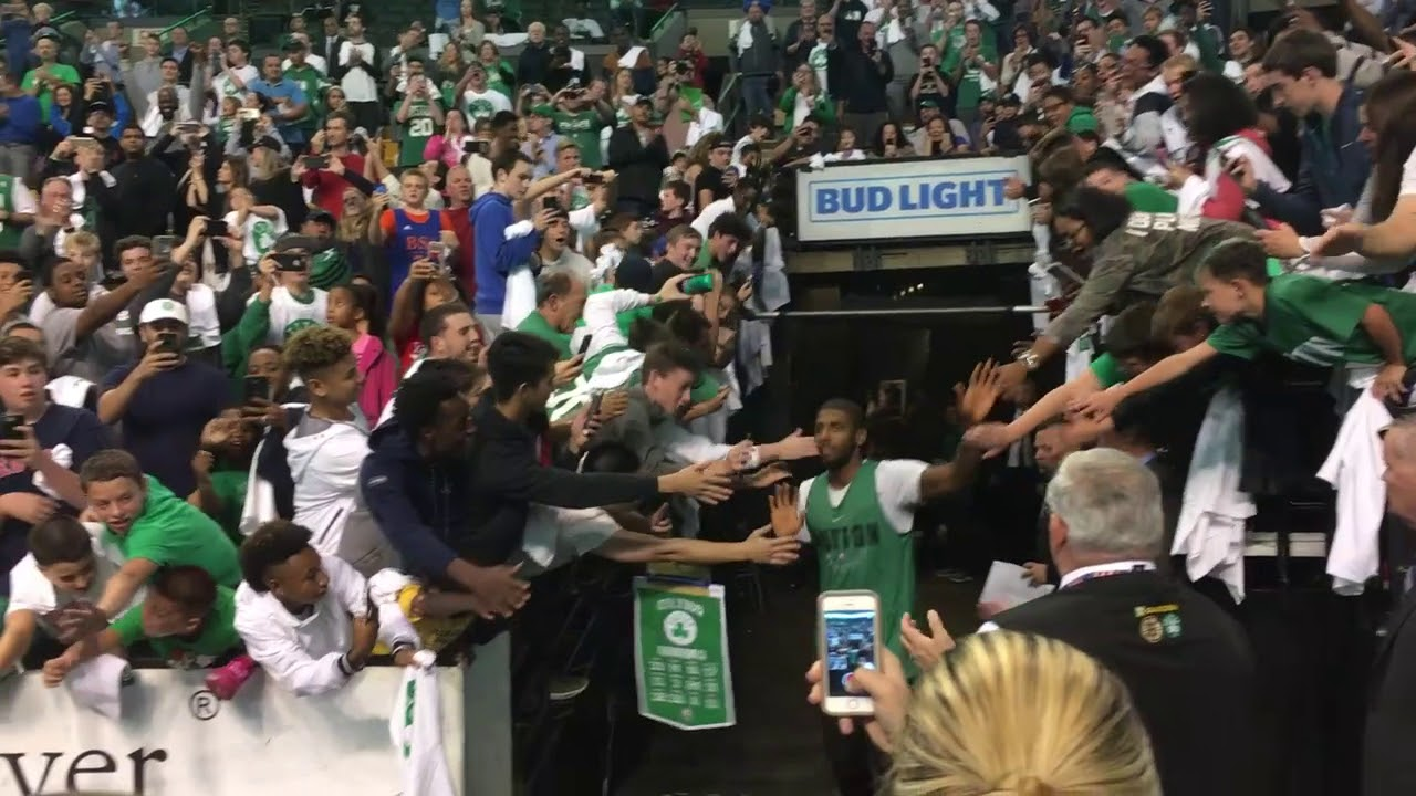 Kyrie Irving and Gordon Hayward introduced as Celtics for first time | ESPN
