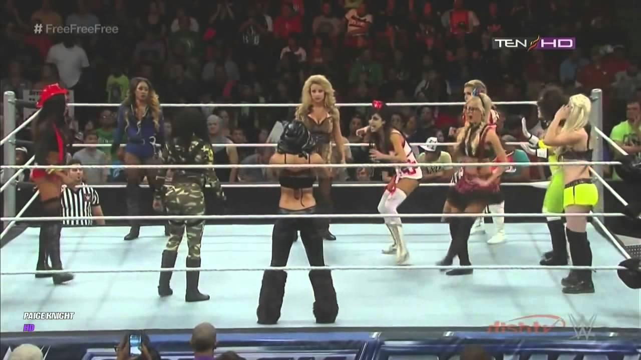 wwe divas halloween battle royal (full match) - youtube