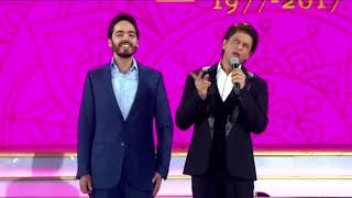 Shahrukh khan and Ambani's son Anant Ambani in RIL Golden Decade