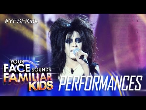 Your Face Sounds Familiar Kids: Awra Briguela as Alice Cooper - I Never Cry