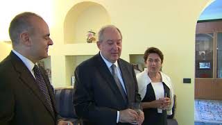 Արմեն Սարգսյանն այցելել է Հայաստանում Իտալիայի դեսպանատուն
