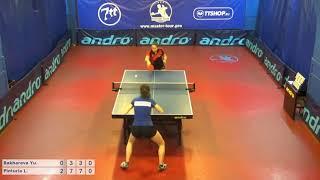 Настольный теннис матч 170318 2 Бахарева Юлия Пинтуриа Любовь