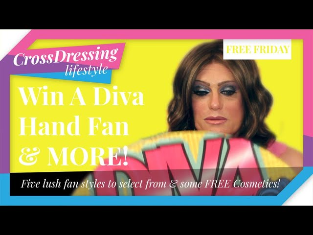Crossdressing Free Friday Review | Diva Hand Fan is a must for those hot nights