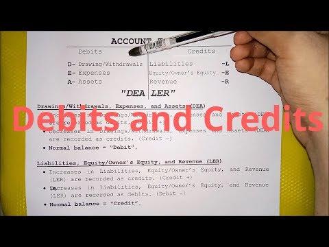 Basic Accounting - Debits and Credits (Part 1)