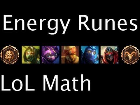 LoL Math - Energy Runes