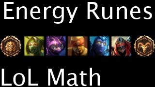 LoL Math - Energy Runes
