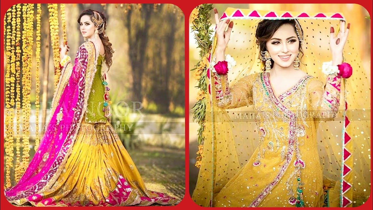 Latest Top Collection Of Bridal Mehndi and Ubtan Dress Designs 2019