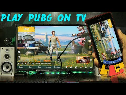 PUBG How To Play PUBG Connect Smartphone To TV LED TV HDTV