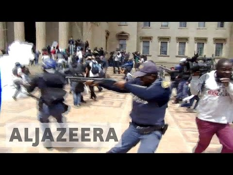 South Africa: Protests over university fee hike turn violent
