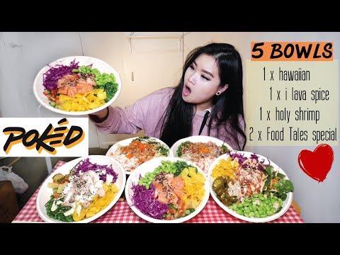 Poke Bowls | Mukbang | Eating Show