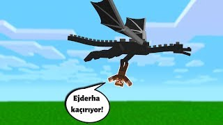 EJDERHA ARDA'YI KAÇIRIYOR! 😱 - Minecraft