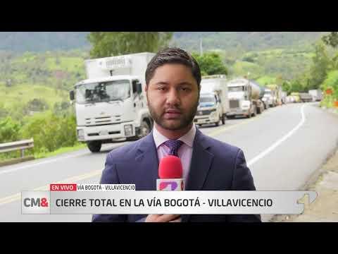 Cierre total en la vía Bogotá – Villavicencio por derrumbes en 15 puntos