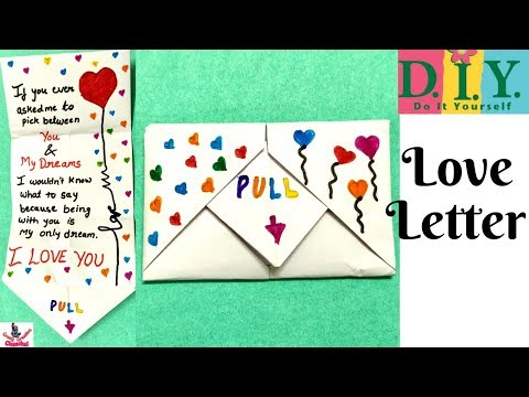 DIY Pull Envelope Card |How to make Card for Valentines day Boyfriend Girlfriend|Love card Origami