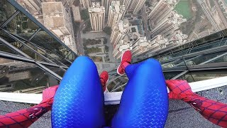 Top 5 Spiderman Parkour POV / Spider man in Real Life