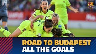 Every goal scored en route to the UEFA Women's Champions League final
