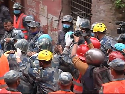Raw: Teenage Boy Rescued in Nepal
