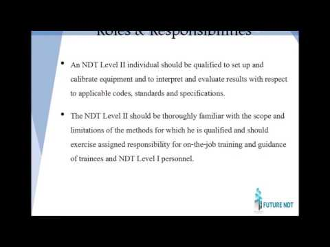 Future NDT PCN Level II & III Traning Program - YouTube