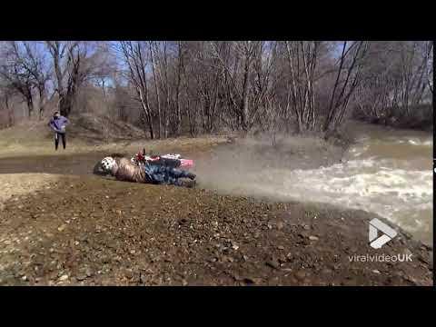 River dirt bike fail || Viral Video UK