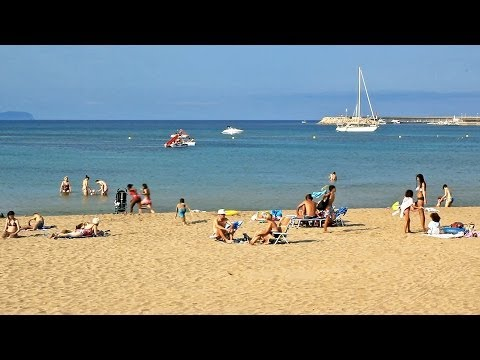 Girona beaches, Costa Brava - Playas de La Escala - Tourism, travel, beach / Spain holiday, L'Escala