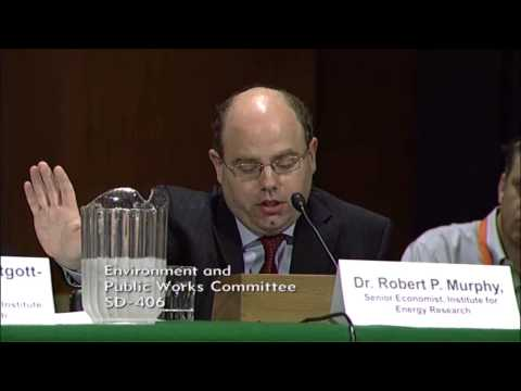 Dr. Robert Murphy testifies before the US Senate Committee on Environment and Public Works