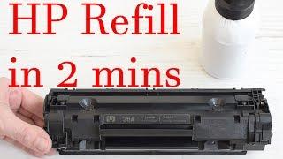 How to refill in 2 minutes HP 36A, HP 78A, HP 79A, HP 83A, HP 85A, HP 88A Toner Cartridges