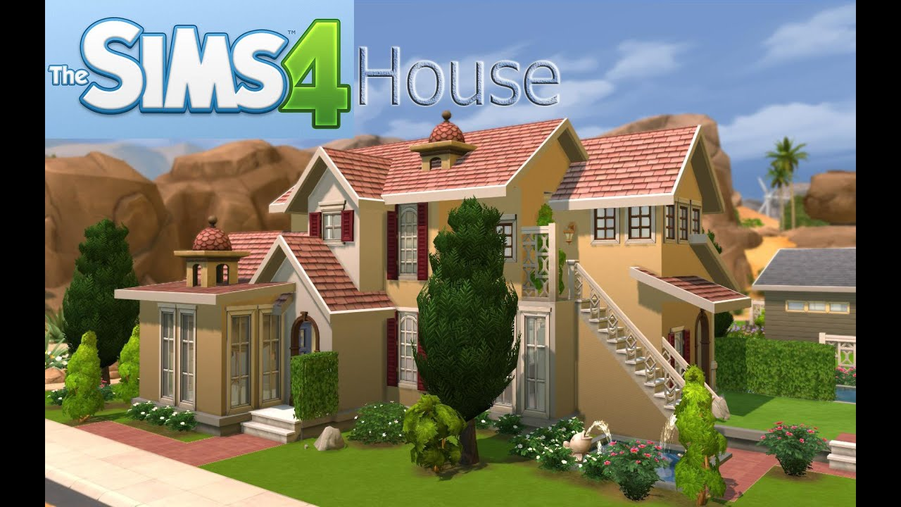 The sims 4 house design cc villa with pool youtube for Pool design sims 4