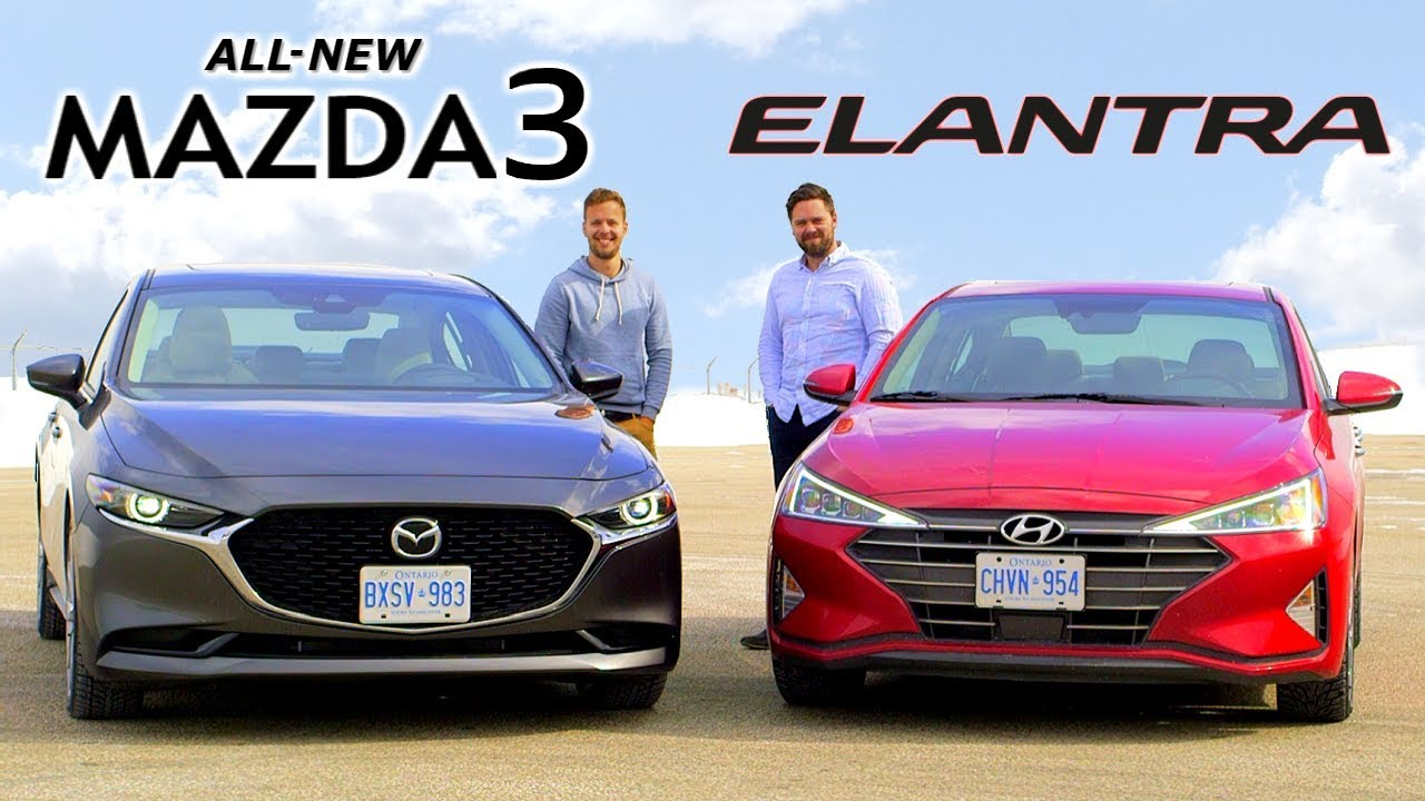 Mazda3 Vs Hyundai Elantra >> 2019 Mazda3 Vs Hyundai Elantra Daily Drivers Duel Youtube