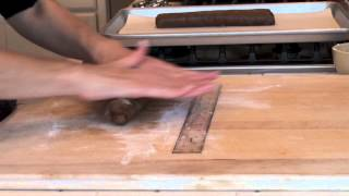 How To Make Hermit Cookies - Rolling Dough Into Logs