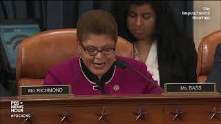 WATCH: Rep. Karen Bass' Full Questioning Of Legal Experts | Trump Impeachment Hearings