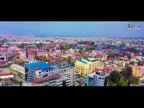 कोरोनामा काठमान्डौ  DRONE Aerial Shot of Kathmandu city  in Lock Down, corona crisis